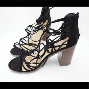 Just fab black strappy heels size 9.5